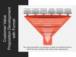 Customer Value Proposition Development With Funnel Ppt Example 2018
