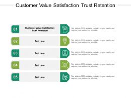 Customer Value Satisfaction Trust Retention Ppt Powerpoint Presentation Gallery Brochure Cpb