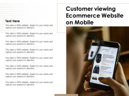 Customer Viewing Ecommerce Website On Mobile