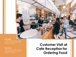 Customer Visit At Cafe Reception For Ordering Food