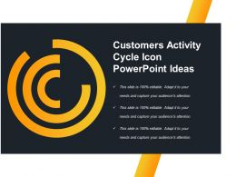 Customers Activity Cycle Icon Powerpoint Ideas