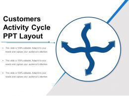 Customers Activity Cycle Ppt Layout
