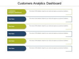Customers Analytics Dashboard Ppt Powerpoint Presentation Summary Themes Cpb