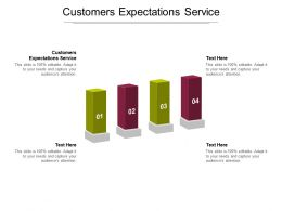 Customers Expectations Service Ppt Powerpoint Presentation Summary Portrait Cpb