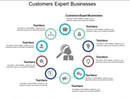 Customers Expert Businesses Ppt Powerpoint Presentation Outline Good Cpb