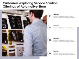 Customers Exploring Service Solution Offerings Of Automotive Store