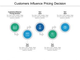 Customers Influence Pricing Decision Ppt Powerpoint Presentation Icon Demonstration Cpb