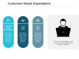 Customers Needs Expectations Ppt Powerpoint Presentation Pictures Example Introduction Cpb