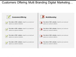 Customers Offering Multi Branding Digital Marketing Marketing Automation Cpb