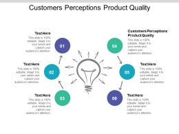 Customers Perceptions Product Quality Ppt Powerpoint Presentation Slides Cpb