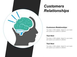 Customers Relationships Ppt Powerpoint Presentation Icon Background Cpb