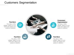 Customers Segmentation Ppt Powerpoint Presentation Outline Pictures Cpb