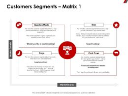 Customers Segments Matrix 1 Cost Ppt Powerpoint Presentation Outline Rules