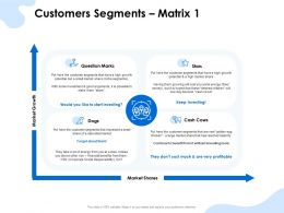 Customers Segments Matrix Market Growth Ppt Powerpoint Presentation Styles Layouts