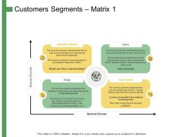 Customers Segments Ppt Powerpoint Presentation Summary Graphics Pictures