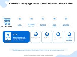 Customers Shopping Behavior Baby Boomers Sample Data Online Ppt Styles Professional