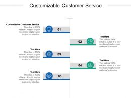 Customizable Customer Service Ppt Powerpoint Presentation Pictures Design Templates Cpb