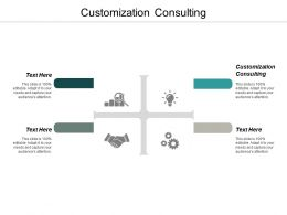 Customization Consulting Ppt Powerpoint Presentation Icon Design Templates Cpb