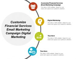 Customize Financial Services Email Marketing Campaign Digital Marketing Cpb