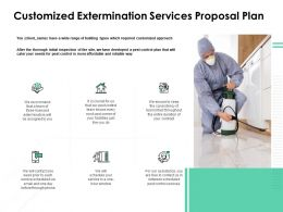 Customized Extermination Services Proposal Plan Ppt Styles Designs