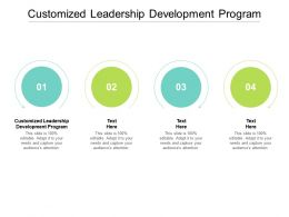 Customized Leadership Development Program Ppt Powerpoint Presentation Ideas Show Cpb
