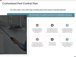 Customized Pest Control Plan Services Ppt Powerpoint Presentation Files