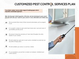 Customized Pest Control Services Plan Ppt Powerpoint Presentation Ideas Master Slide
