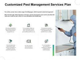Customized Pest Management Services Plan Ppt Summary Clipart Images