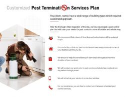 Customized Pest Termination Services Plan Ppt Powerpoint Presentation Pictures Diagrams