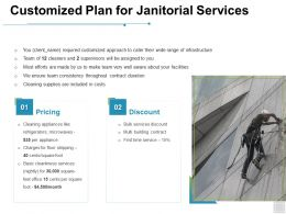 Customized Plan For Janitorial Services Pricing Ppt Powerpoint Presentation Background