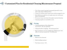 Customized Plan For Residential Cleaning Maintenance Proposal Ppt File Example Introduction
