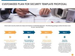 Customized Plan For Security Template Proposal Ppt Powerpoint Presentation Styles Graphic Images