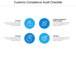 Customs Compliance Audit Checklist Ppt Powerpoint Presentation Infographics Demonstration Cpb