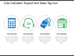 Cute Calculator Support And Sales Tag Icon