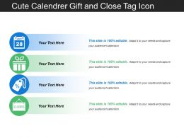 Cute Calendrer Gift And Close Tag Icon