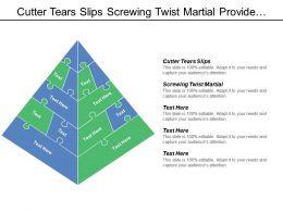 Cutter Tears Slips Screwing Twist Martial Provide Alignment Notch