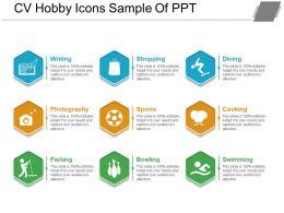 Cv Hobby Icons Sample Of Ppt