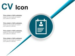Cv Icon Good Ppt Example