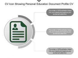 Cv Icon Showing Personal Education Document Profile Cv