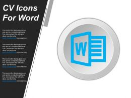 Cv Icons For Word Powerpoint Templates