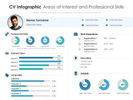 CV Infographic Areas Of Interest And Professional Skills