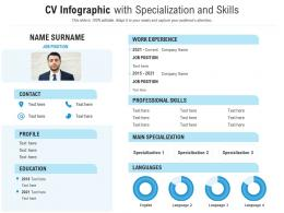 CV Infographic With Specialization And Skills