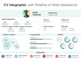 CV Infographic With Timeline Of Work Experience