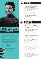 CV Resume Example Template