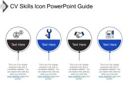 Cv Skills Icon Powerpoint Guide