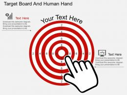 cv Target Board And Human Hand Flat Powerpoint Design