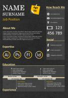 CV Template Design Editable Resume Powerpoint Presentation