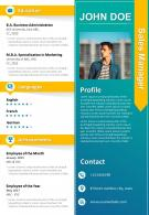 CV Template Sales Manager Resume Powerpoint Presentation