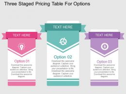 cv Three Staged Pricing Table For Options Flat Powerpoint Design