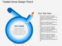 cv Twisted Arrow Design Pencil Flat Powerpoint Design